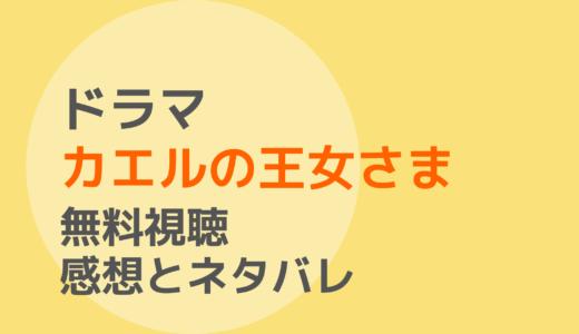 ドラマ【カエルの王女さま】1話~最終回を無料視聴!ネタバレ感想もチェック!