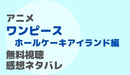 アニメ【ワンピース・ホールケーキアイランド編】1話~最終回を無料視聴!ネタバレ感想もチェック!