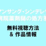 ドラマ【アンサング・シンデレラ】1話~最終回の動画配信を無料視聴!PandoraやDailymotionとyoutubeも確認!